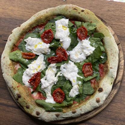 Pizza verde con straciatella